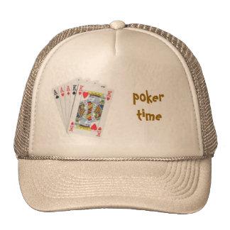 poker hand, poker time cap trucker hat