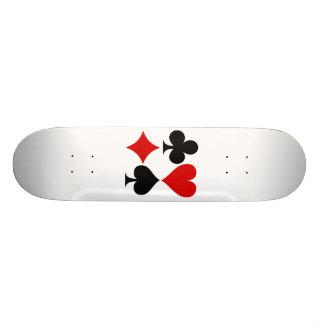 Poker Hand Custom Skate Board