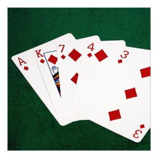 Poker Hands - Flush - Diamonds Suit Art Photo