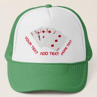 Poker Hands - Flush - Diamonds Suit Trucker Hat
