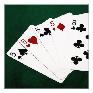 Poker Hands - Four Of A Kind - Fives and Eight Photo Print