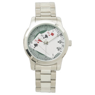 Poker Hands - Four Of A Kind - Fives and Eight Wristwatches