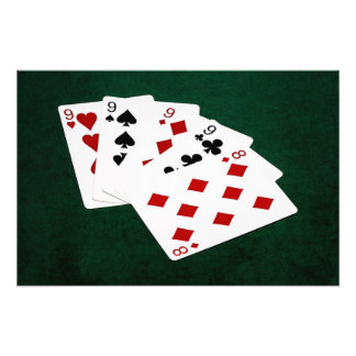 Poker Hands - Four Of A Kind - Nines and Eight Photograph