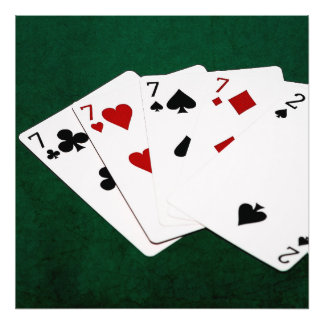 Poker Hands - Four Of A Kind - Sevens and Two Photo
