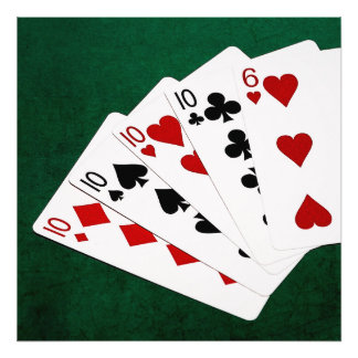 Poker Hands - Four Of A Kind - Tens and Six Photo Print