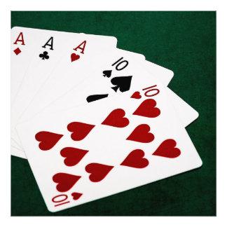 Poker Hands - Full House - Ace and Ten Art Photo