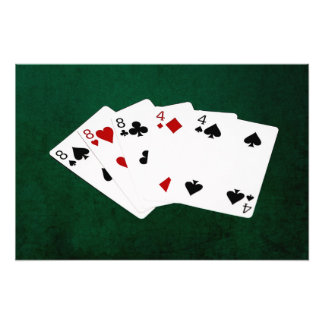 Poker Hands - Full House - Eight and Four Photo Art