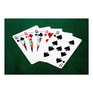 Poker Hands - Full House - Queen and Nine Photo Art
