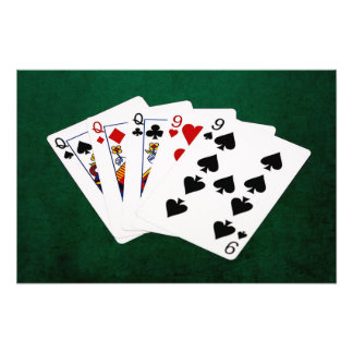 Poker Hands - Full House - Queen and Nine Art Photo