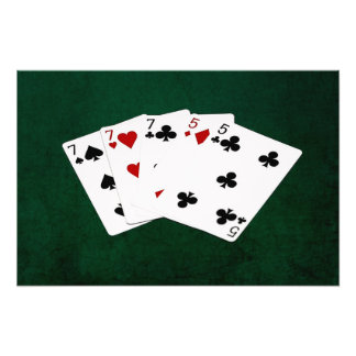 Poker Hands - Full House - Seven and Five Photographic Print