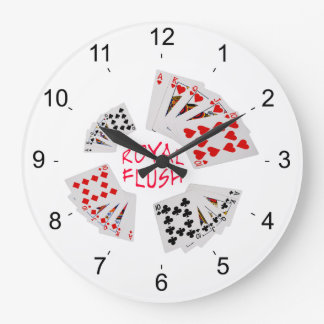 Poker Hands - Royal Flush Clock