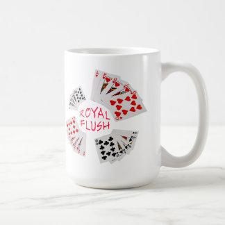 Poker Hands - Royal Flush Customizable Coffee Mug
