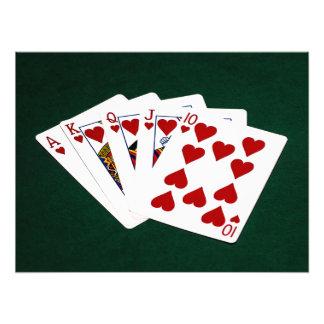 Poker Hands - Royal Flush - Hearts Suit Photo Art