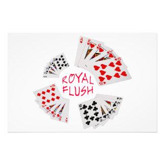 Poker Hands - Royal Flush Photograph