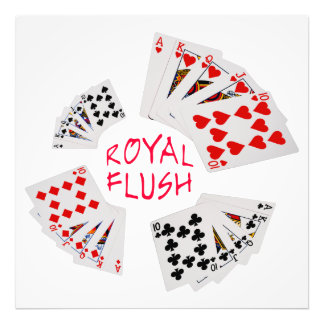 Poker Hands - Royal Flush Photographic Print