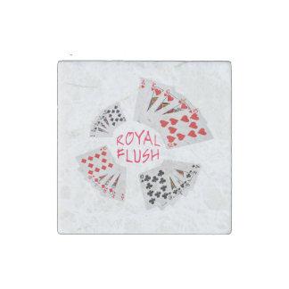 Poker Hands - Royal Flush Stone Magnets