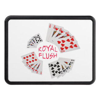 Poker Hands - Royal Flush Trailer Hitch Covers
