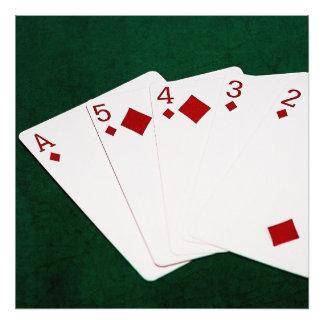 Poker Hands - Straight Flush - Diamonds Suit Photograph