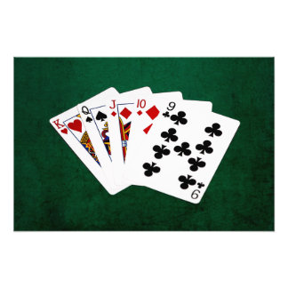 Poker Hands - Straight - King To Nine Photographic Print