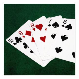 Poker Hands - Straight - Ten To Six Art Photo