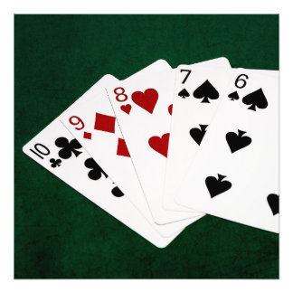 Poker Hands - Straight - Ten To Six Photo Print
