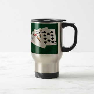 Poker Hands - Two Pair - Ace, King Travel Mug
