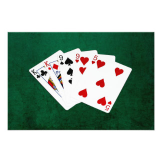 Poker Hands - Two Pair - King, Nine Photograph