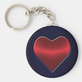 Poker Heart Key Chain