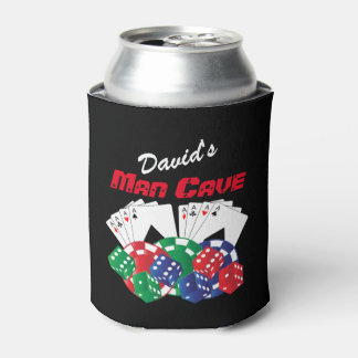Poker Night at the Man Cave Can Cooler