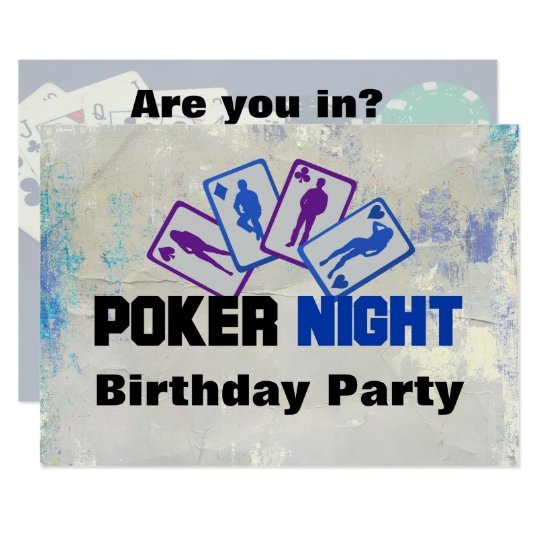 Poker Night Birthday Party Invitation