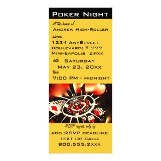 Poker Night Casino Theme Invite