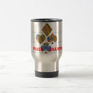 POKER Night Championship 15 Oz Stainless Steel Travel Mug