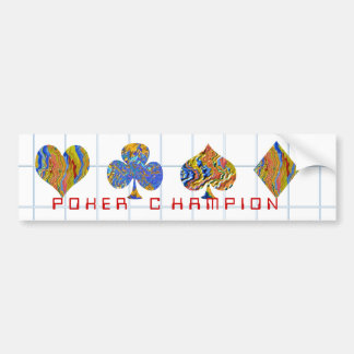 POKER Night Championship Bumper Sticker