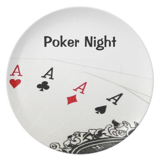 Poker Night Plate