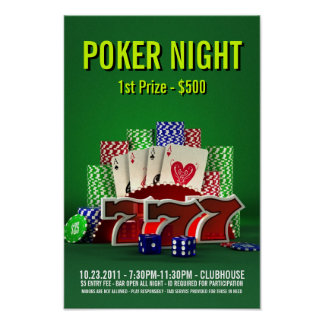 Poker Night -Poster Poster