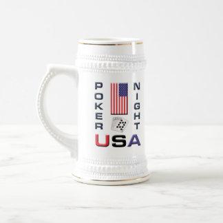Poker Night USA Beer Stein Mug w front/back design