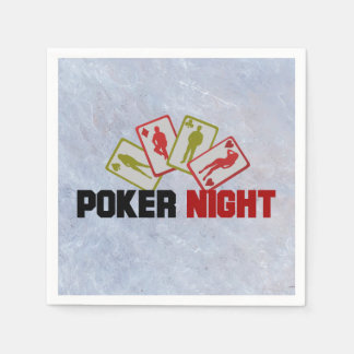 Poker Night with Playing Cards Disposable Napkin