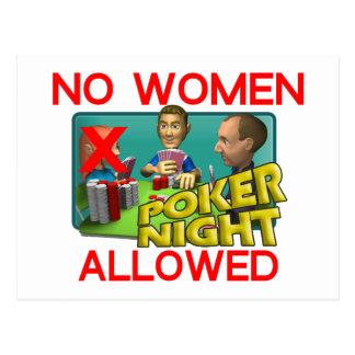 Poker No Women Postcard