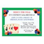 "Poker Party Invitation 5"" X 7"" Invitation Card"