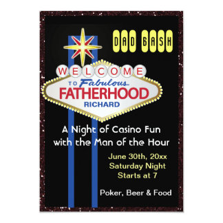 Poker Party New Daddy Baby Shower Card