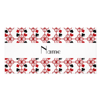 Poker personalized name photo cards