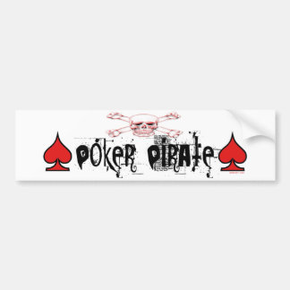 Poker Pirate bumper sticker