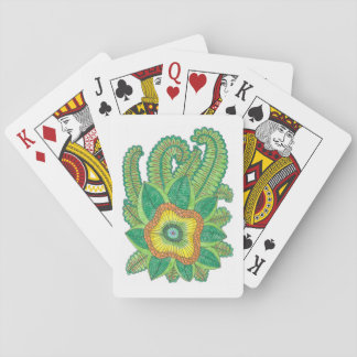 Poker plants playing cards