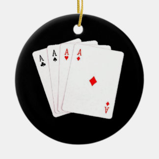 Poker Player 4 A's Christmas Ornament