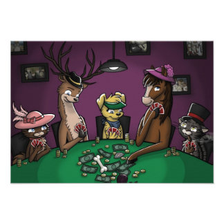 Poker Playing Animals Personalized Invites