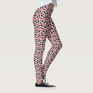 Poker Playing Card Suit Vegas Casino Pattern Leggings