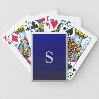 Poker Playing Cards - Blue Gradient with silver