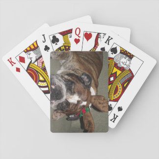 Poker Playing cards- English Bulldog with reideeer Playing Cards