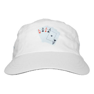 Poker,_Quad_Aces,_Unisex_White_Sports_Cap Hat
