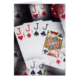 Poker, Quad Jacks Pattern, Card
